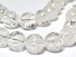 Strang Bergkristall chrashed Kugeln 6 mm