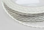 Kunstlederband geflochten 3 mm weiß, 50 cm