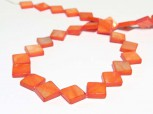 Strang Muschel Quadrate orange 10 x 10 mm