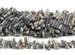 Strang Picassojaspis Zylinder matt, schräg gebohrt 20 x 4 mm
